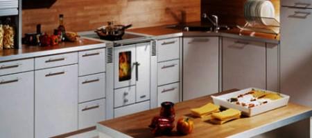 Cuisinière à bois LOHBERGER installée par la SARL SOLENEO