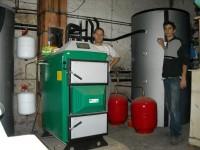 Chaudière bois bûches  ORLAN 25kW pour chauffage central. Saverdun (09).