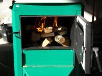 Chaudière bois bûches ORLAN 32kW pour chauffage central. Saverdun (09).