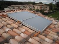 Capteurs solaires WAGNER & Co installés en surimposition de toiture.   Tournefeuille (31)