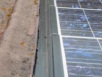 Finition couloir latéral sur une installation photovoltaïque Photowatt 2.4kWc, onduleur DANFOSS. Pins-Justaret (31)
