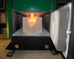 Chaudière bois à gazéification installée par la SARL SOLENEO