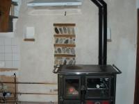Cuisinière à bois hydraulique NORDICA 18kW + ballon tampon + chauffage solaire. Latrape (31)