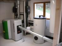 Chaudière bois granulés à vis OKOFEN 12kW pour chauffage central et eau chaude sanitaire (ballon 200L double échangeur). Montesquieu Volvestre (31).
