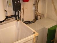 Chaudière bois granulés à vis OKOFEN 10kW pour chauffage central et eau chaude sanitaire, silo manuel de 450kg. L'Isle en Dodon (31).