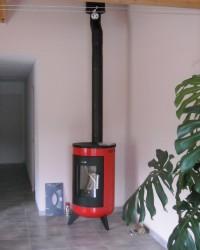 Poêle à bois WAMSLER Metropolitan 7kW + création de conduit de fumées double paroi isolé. Martres-Tolosane (31)