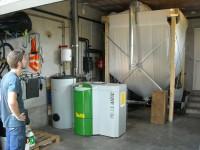 Chaudière bois granulés à vis OKOFEN 10kW pour chauffage central et eau chaude sanitaire. Cazères (31).