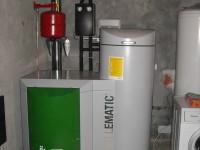 Chaudière bois granulés manuelle OKOFEN 10kW pour chauffage central et eau chaude sanitaire (réserve de 130kg). Ponlat Taillebourg (31).
