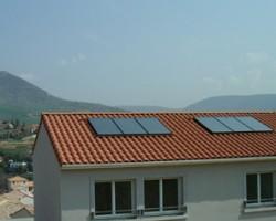 Installation solaire pour la production d'eau chaude de HLM. SOLENEO Energies Nouvelles Carbonne (31)