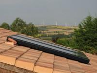 Capteurs solaires ÖKOFEN Pellesol installés en surimposition de toiture. Villefranche-de-Lauragais (31)