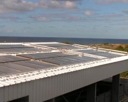 Installation solaire pour la production d'eau chaude d'un abattoir. SOLENEO Energies Nouvelles Carbonne (31)