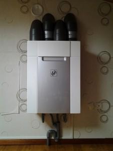 VMC Double-Flux UNELVENT DOMEO installée sur une maison de 120m2 à Saint-Lys, gaines isolées et raccordement des condensats