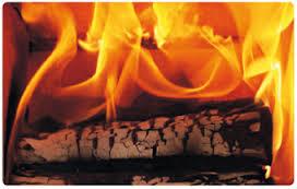 combustion de bûche de bois