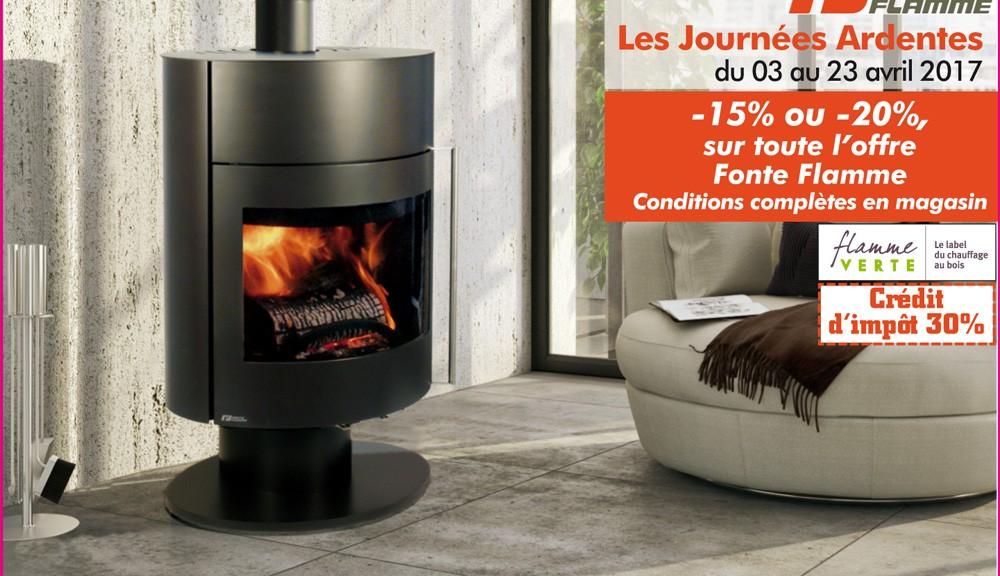 promotion les journ es ardentes 2017 jusqu 20 de remise sur votre po le bois soleneo. Black Bedroom Furniture Sets. Home Design Ideas