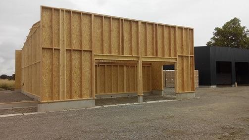 Nouveau bâtiment ossature bois de SOLENEO à Carbonne
