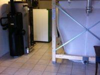 Chaudière à granulés Pellematic COMPACT de 16kW pour chauffage en rénovation. Couplage à un chauffe-eau solaire WAGNER &Co de 300 litres. Trémie de 4 tonnes de stockage à Mondonville (31)