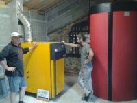 Chaudière bois bûches ETA SH 30 kW et ballon tampon de 2000 litres au Fousseret (31)