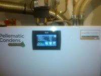 Afficheur d'une Pellematic Condens 10 kW installée à Montesquieu- Volvestre (31)