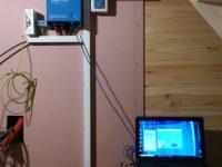Onduleur/chargeur Multiplus 800W pour un site isolé à Cazaux-Frechet (65). Batteries et chargeur Victron