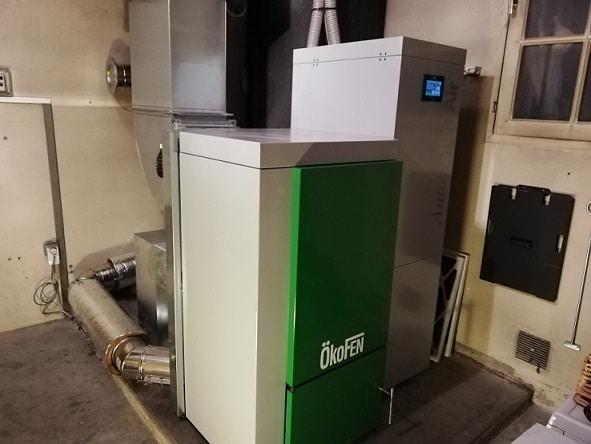 générateur d'air chaud à granulés par Solénéo